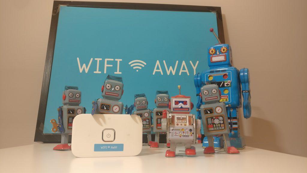 Robots de hojalata WifiAway con dispositivo wifi